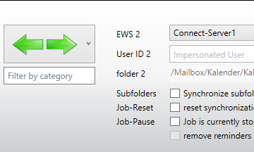 Mixjob in order to sync Exchange folders